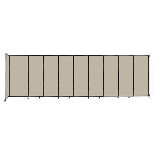 """Wall-Mounted StraightWall Sliding Partition 19'9"""" x 6' Sand Fabric"""