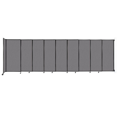 """Wall-Mounted StraightWall Sliding Partition 19'9"""" x 6' Slate Fabric"""