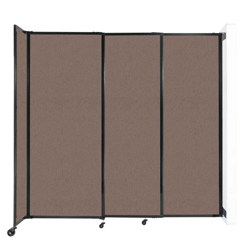 """Wall-Mounted StraightWall Sliding Partition 7'2"""" x 6'10"""" Latte Fabric"""