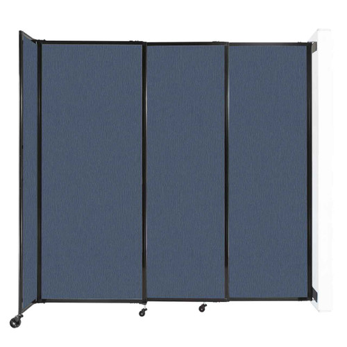 """Wall-Mounted StraightWall Sliding Partition 7'2"""" x 6'10"""" Ocean Fabric"""