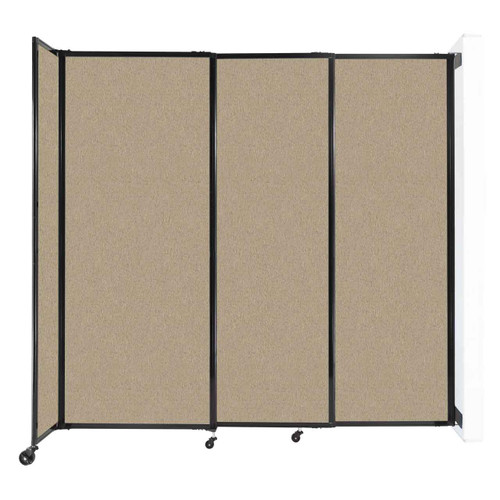 """Wall-Mounted StraightWall Sliding Partition 7'2"""" x 6'10"""" Rye Fabric"""