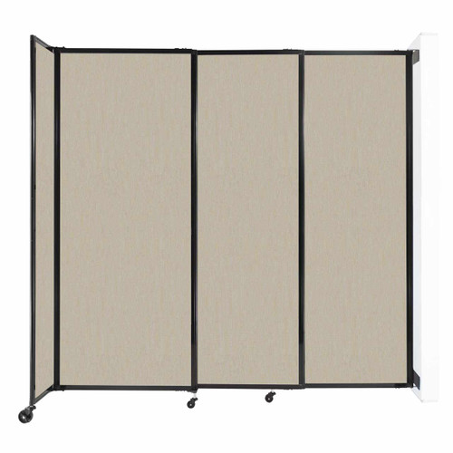 """Wall-Mounted StraightWall Sliding Partition 7'2"""" x 6'10"""" Sand Fabric"""