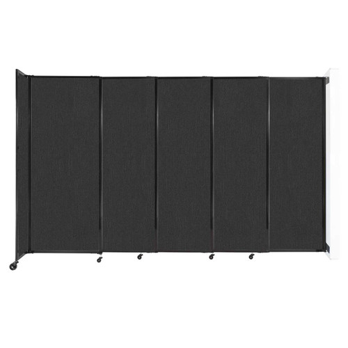 """Wall-Mounted StraightWall Sliding Partition 11'3"""" x 6'10"""" Black Fabric"""