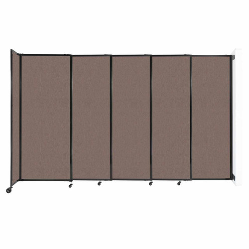 """Wall-Mounted StraightWall Sliding Partition 11'3"""" x 6'10"""" Latte Fabric"""