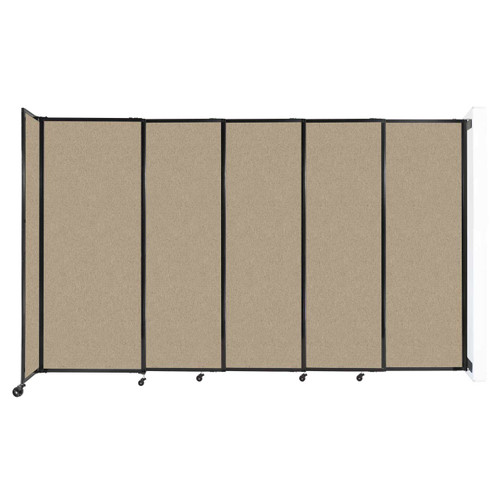 """Wall-Mounted StraightWall Sliding Partition 11'3"""" x 6'10"""" Rye Fabric"""