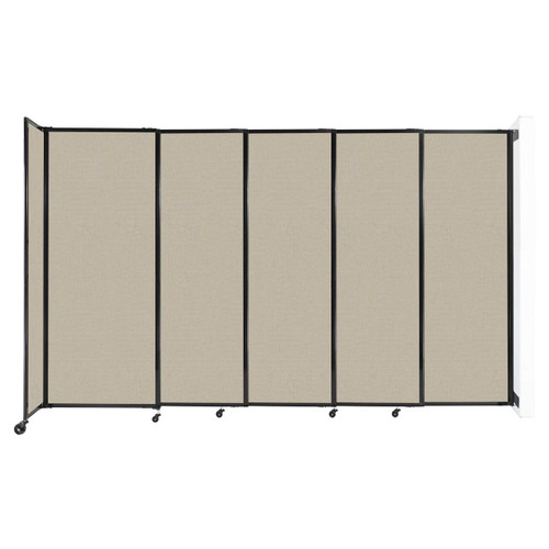 """Wall-Mounted StraightWall Sliding Partition 11'3"""" x 6'10"""" Sand Fabric"""