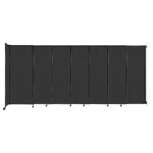 """Wall-Mounted StraightWall Sliding Partition 15'6"""" x 6'10"""" Black Fabric"""