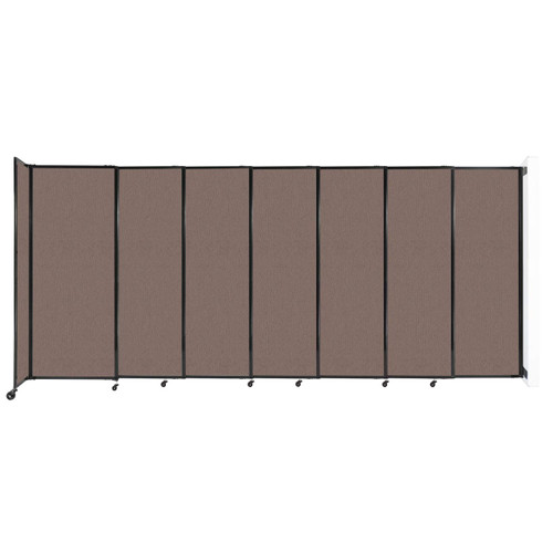 """Wall-Mounted StraightWall Sliding Partition 15'6"""" x 6'10"""" Latte Fabric"""