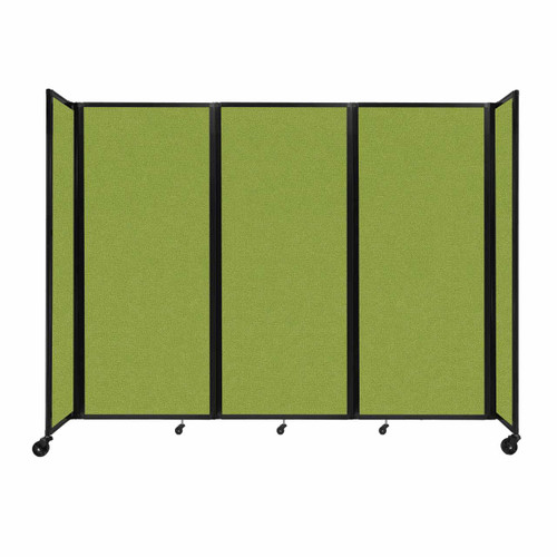 """Room Divider 360 Folding Portable Partition 8'6"""" x 6'10"""" Lime Green Fabric"""