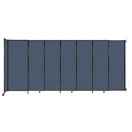 """Wall-Mounted StraightWall Sliding Partition 15'6"""" x 6'10"""" Ocean Fabric"""