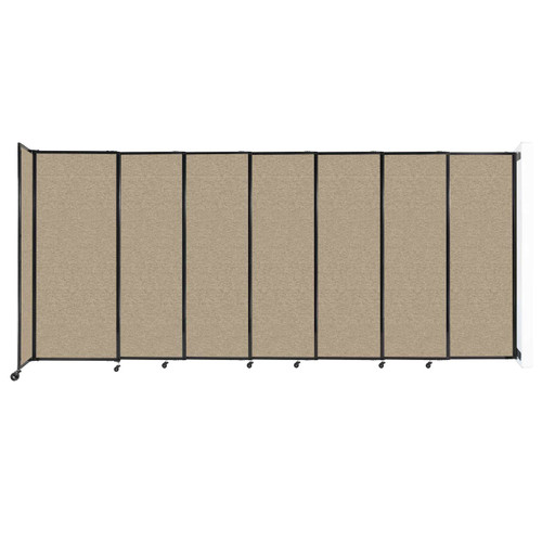 """Wall-Mounted StraightWall Sliding Partition 15'6"""" x 6'10"""" Rye Fabric"""