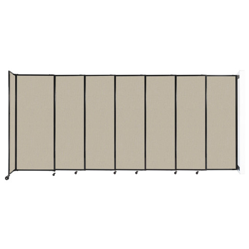 """Wall-Mounted StraightWall Sliding Partition 15'6"""" x 6'10"""" Sand Fabric"""