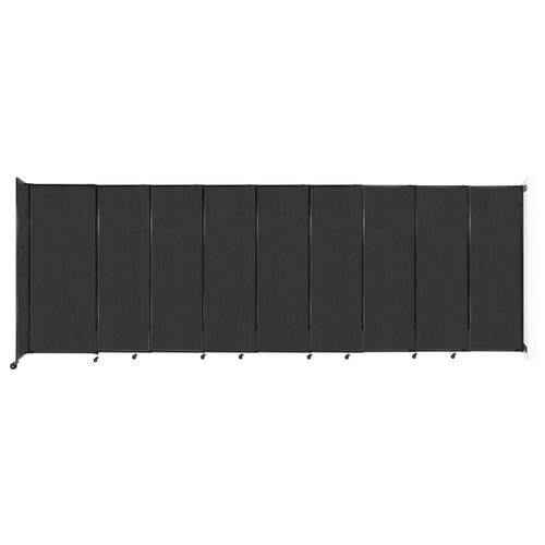 """Wall-Mounted StraightWall Sliding Partition 19'9"""" x 6'10"""" Black Fabric"""