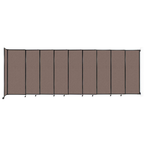 """Wall-Mounted StraightWall Sliding Partition 19'9"""" x 6'10"""" Latte Fabric"""