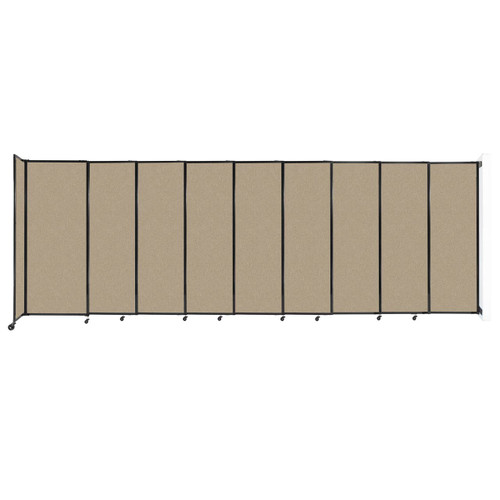 """Wall-Mounted StraightWall Sliding Partition 19'9"""" x 6'10"""" Rye Fabric"""