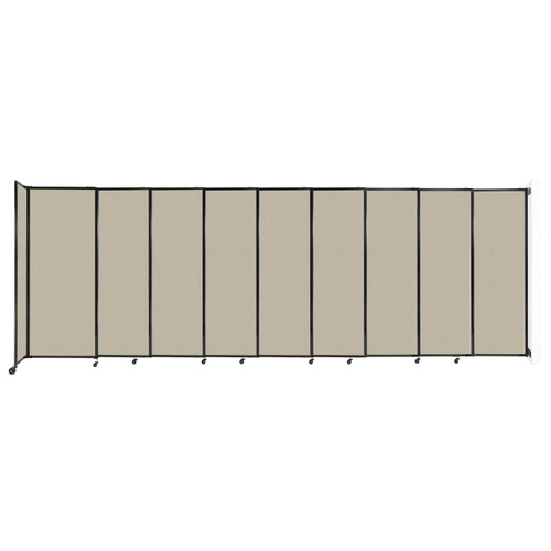"""Wall-Mounted StraightWall Sliding Partition 19'9"""" x 6'10"""" Sand Fabric"""