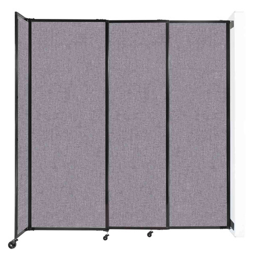 """Wall-Mounted StraightWall Sliding Partition 7'2"""" x 7'6"""" Cloud Gray Fabric"""
