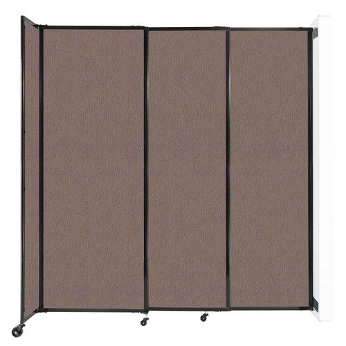 """Wall-Mounted StraightWall Sliding Partition 7'2"""" x 7'6"""" Latte Fabric"""