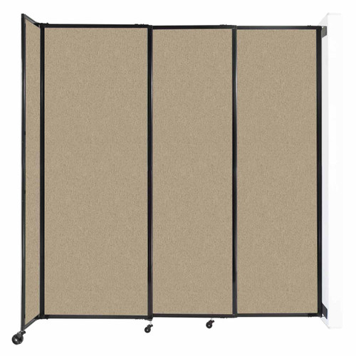 """Wall-Mounted StraightWall Sliding Partition 7'2"""" x 7'6"""" Rye Fabric"""