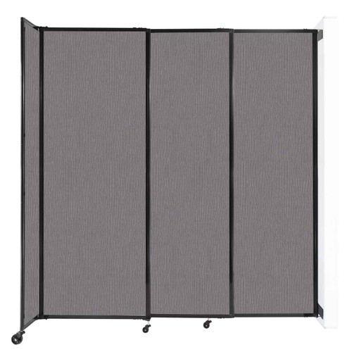 """Wall-Mounted StraightWall Sliding Partition 7'2"""" x 7'6"""" Slate Fabric"""