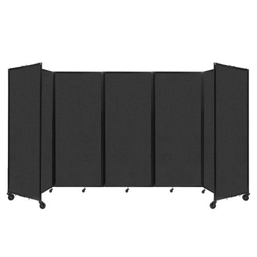 """Room Divider 360 Folding Portable Partition 14' x 6'10"""" Black Fabric"""