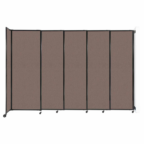 """Wall-Mounted StraightWall Sliding Partition 11'3"""" x 7'6"""" Latte Fabric"""
