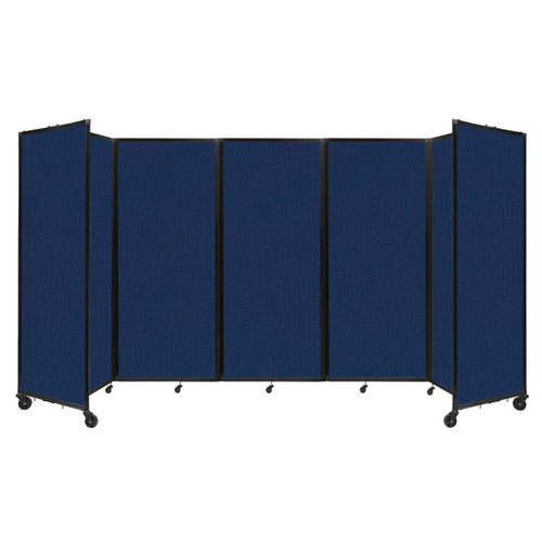 """Room Divider 360 Folding Portable Partition 14' x 6'10"""" Navy Blue Fabric"""