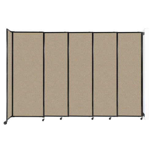 """Wall-Mounted StraightWall Sliding Partition 11'3"""" x 7'6"""" Rye Fabric"""