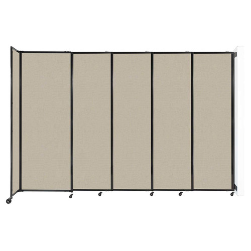 """Wall-Mounted StraightWall Sliding Partition 11'3"""" x 7'6"""" Sand Fabric"""