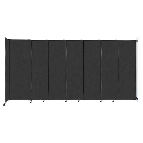 """Wall-Mounted StraightWall Sliding Partition 15'6"""" x 7'6"""" Black Fabric"""