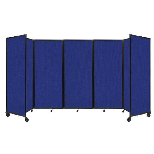 """Room Divider 360 Folding Portable Partition 14' x 6'10"""" Royal Blue Fabric"""