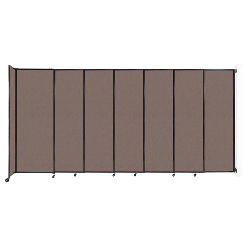 """Wall-Mounted StraightWall Sliding Partition 15'6"""" x 7'6"""" Latte Fabric"""