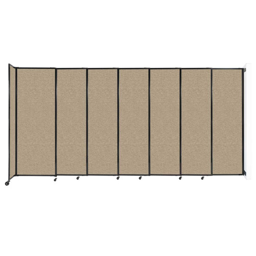 """Wall-Mounted StraightWall Sliding Partition 15'6"""" x 7'6"""" Rye Fabric"""