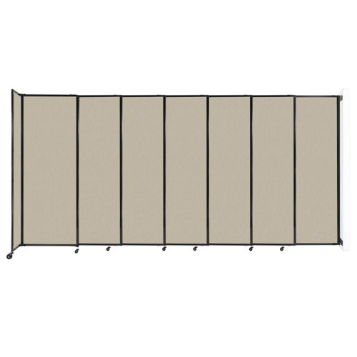 """Wall-Mounted StraightWall Sliding Partition 15'6"""" x 7'6"""" Sand Fabric"""