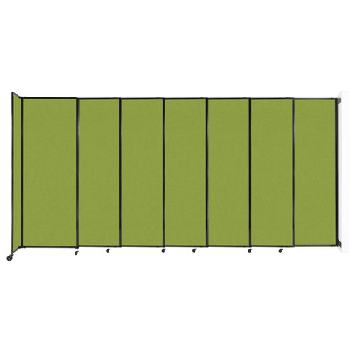 """Wall-Mounted StraightWall Sliding Partition 15'6"""" x 7'6"""" Lime Green Fabric"""