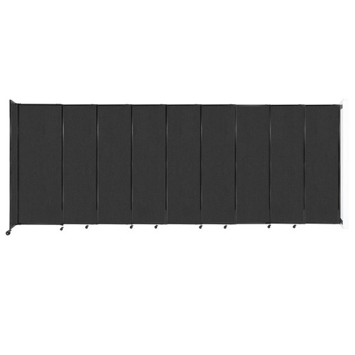 """Wall-Mounted StraightWall Sliding Partition 19'9"""" x 7'6"""" Black Fabric"""