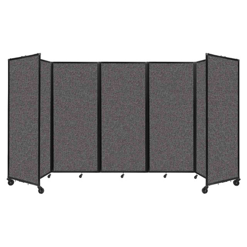 """Room Divider 360 Folding Portable Partition 14' x 6'10"""" Charcoal Gray Fabric"""