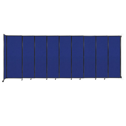 """Wall-Mounted StraightWall Sliding Partition 19'9"""" x 7'6"""" Royal Blue Fabric"""