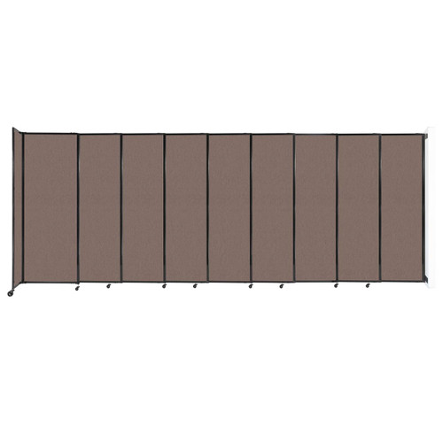 """Wall-Mounted StraightWall Sliding Partition 19'9"""" x 7'6"""" Latte Fabric"""