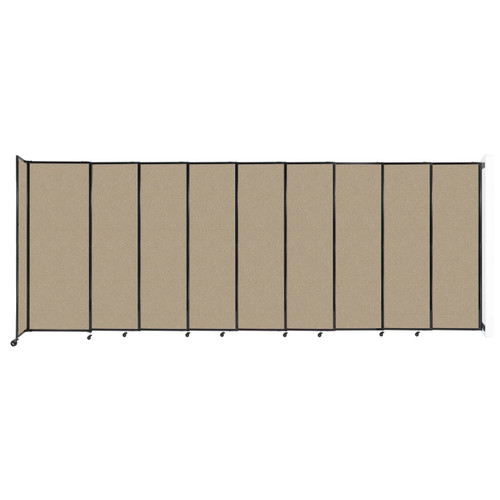"""Wall-Mounted StraightWall Sliding Partition 19'9"""" x 7'6"""" Rye Fabric"""