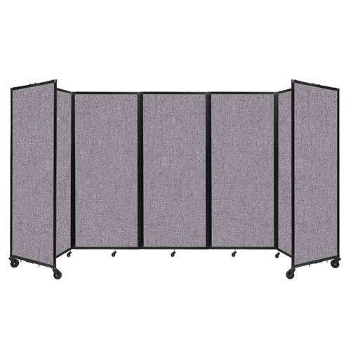 """Room Divider 360 Folding Portable Partition 14' x 6'10"""" Cloud Gray Fabric"""