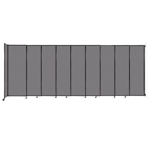 """Wall-Mounted StraightWall Sliding Partition 19'9"""" x 7'6"""" Slate Fabric"""