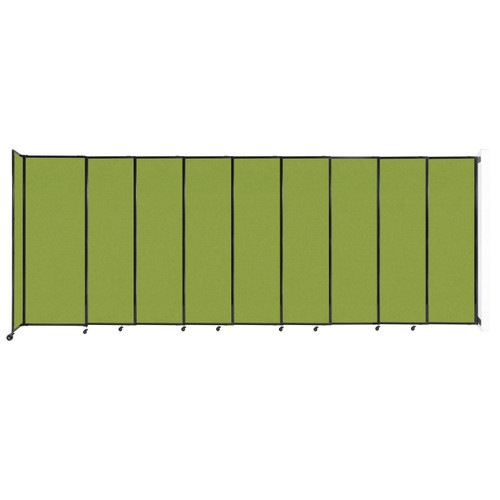 """Wall-Mounted StraightWall Sliding Partition 19'9"""" x 7'6"""" Lime Green Fabric"""