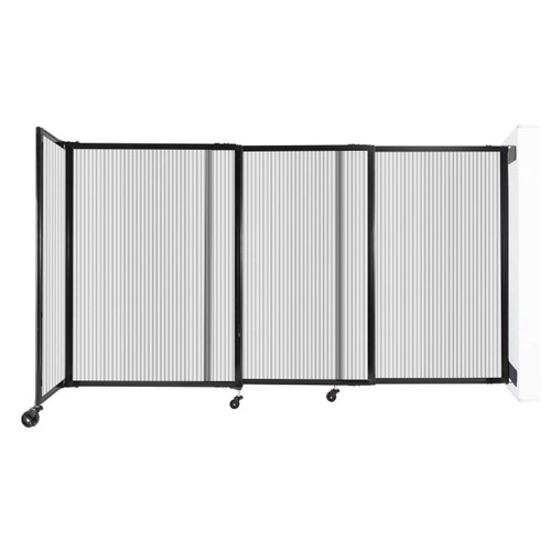 """StraightWall Wall-Mounted Sliding Partition 7'2"""" x 4' Clear Poly Polycarbonate"""
