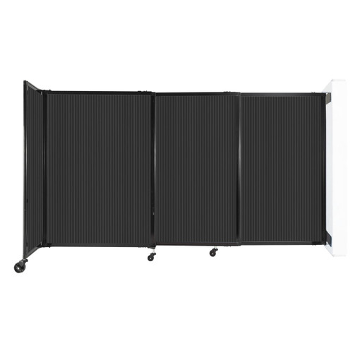 """StraightWall Wall-Mounted Sliding Partition 7'2"""" x 4' Dark Gray Poly Polycarbonate"""