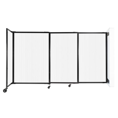 """StraightWall Wall-Mounted Sliding Partition 7'2"""" x 4' Opal Poly Polycarbonate"""