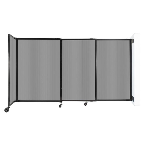 """StraightWall Wall-Mounted Sliding Partition 7'2"""" x 4' Light Gray Poly Polycarbonate"""
