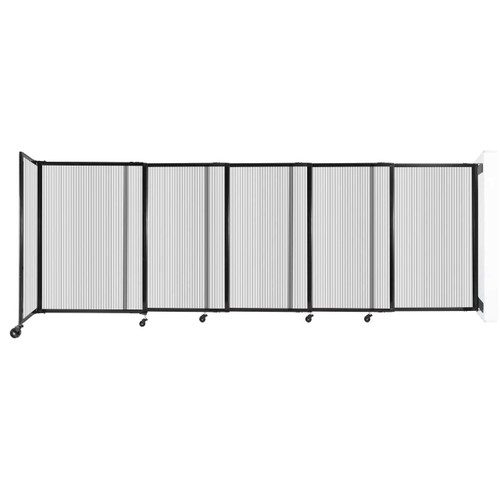 """StraightWall Wall-Mounted Sliding Partition 11'3"""" x 4' Clear Poly Polycarbonate"""