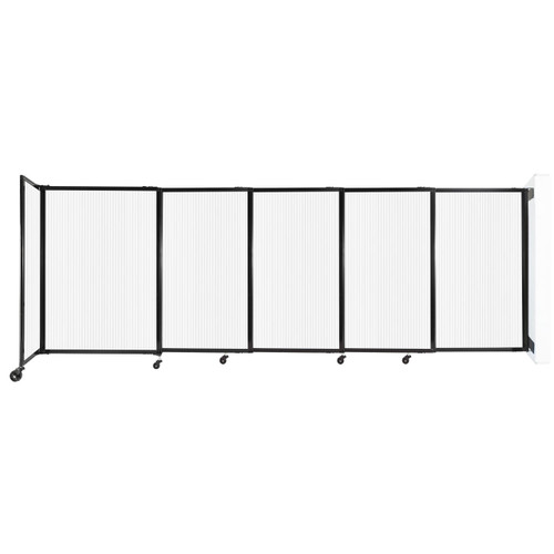 """StraightWall Wall-Mounted Sliding Partition 11'3"""" x 4' Opal Poly Polycarbonate"""