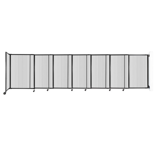 """StraightWall Wall-Mounted Sliding Partition 15'6"""" x 4' Clear Poly Polycarbonate"""